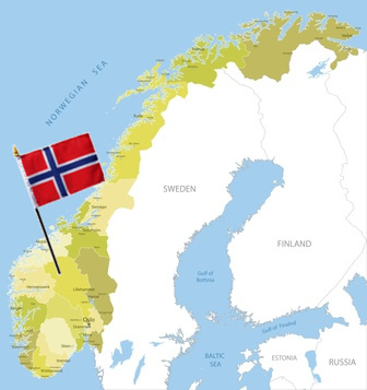 Norway map Scandinavia